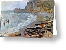 Claude Monet: Etretat, 1883 Greeting Card