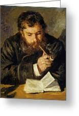 Claude Monet The Reader 1874 Greeting Card