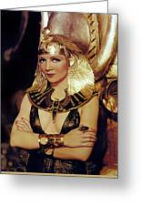 Claudette Colbert In Cleopatra 1934 Greeting Card
