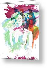 Claudia Nude Fine Art Painting Print In Sensual Sexy Color 4887. Greeting Card
