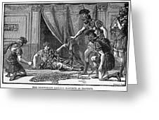 Claudius And Guards Greeting Card