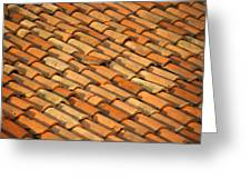 Clay Roof Tiles Greeting Card by David Buffington