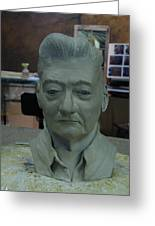 Clay Sculpture Of Gerald Simpson Greeting Card
