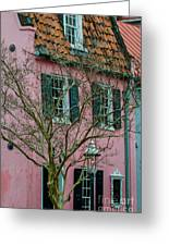 Clay Tile Roof In Charleston Greeting Card