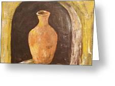 Clay Vase Greeting Card