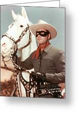 Claytn Moore The Lone Ranger Greeting Card
