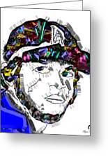 Clayton Kershaw La Dodger Greeting Card
