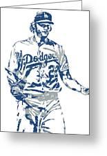 Clayton Kershaw Los Angeles Dodgers Pixel Art 10 Greeting Card