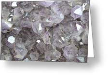 Clear Crystal Amethyst Greeting Card