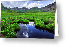 Clear Lake Reflections Greeting Card