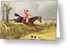 Clearing A Ditch Greeting Card