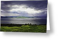 Clearing Over Galilee Greeting Card