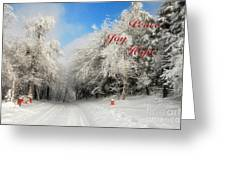 Clearing Skies Christmas Card Greeting Card