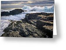 Clearing Storm At Bald Head Cliff Greeting Card