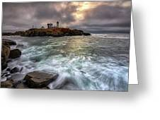 Clearing Storm At Cape Neddick Greeting Card