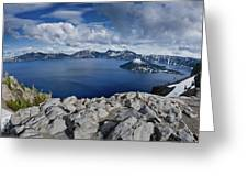 Clearing Storm At Crater Lake Greeting Card