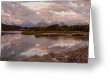 Clearing Storm At Oxbow Bend Greeting Card