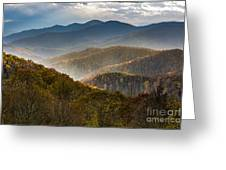 Clearing Storm At Webb Overlook Greeting Card