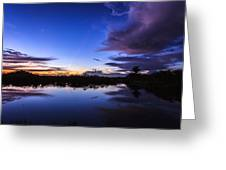 Clearing Storm Over The Anhinga Trail Greeting Card