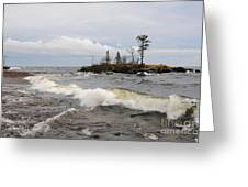 Clearing Storm Over Lake Superior Greeting Card