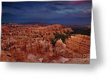 Clearing Storm Over The Hoodoos Bryce Canyon National Park Greeting Card