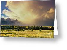 Clearing Summer Storm Grand Tetons National Park Greeting Card