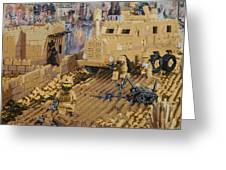 Clearing The Road- Kandahar Province Afghanistan Greeting Card