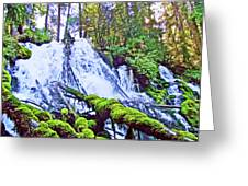 Clearwater Falls, Highway 138, Umpqua National Forest, Oregon Greeting Card