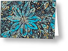 Clematis In Blue Fantasia Greeting Card