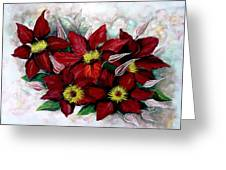 Clematis Niobe Greeting Card