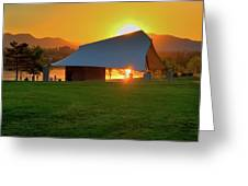 Clement Park Sunset Greeting Card