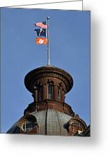 Clemson Flag At State House Greeting Card