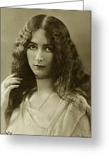 Cleo De Merode Greeting Card