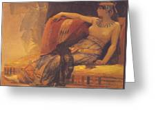 Cleopatra Preparatory Study For Cleopatra Testing Poisons On The Condemned Prisoners Greeting Card