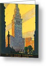 Cleveland - Vintage Travel Greeting Card