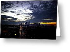 Cleveland At Dusk Greeting Card