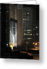 Cleveland At Night 03 - Lebron James Light Display Greeting Card by Neil Doren