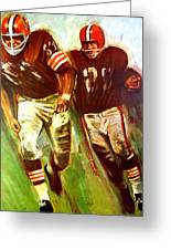 Cleveland Browns 1965 Cb Helmet Poster Greeting Card
