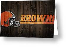 Cleveland Browns Barn Door Greeting Card
