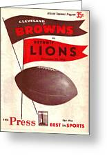 Cleveland Browns Vintage Program 4 Greeting Card