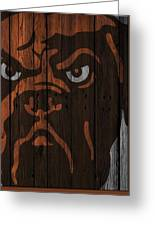 Cleveland Browns Wood Fence Greeting Card