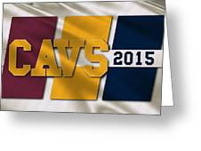 Cleveland Cavaliers Flag Greeting Card