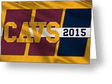 Cleveland Cavaliers Flag2 Greeting Card