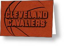 Cleveland Cavaliers Leather Art Greeting Card