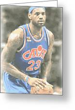Cleveland Cavaliers Lebron James 1 Greeting Card