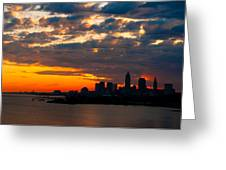 Cleveland Dawn Greeting Card