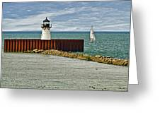 Cleveland Harbor Small Lighthouse Greeting Card