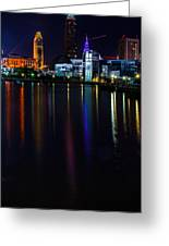 Cleveland Nightly Reflections Greeting Card