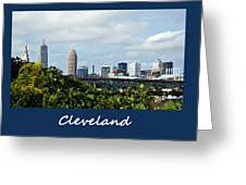 Cleveland Poster Greeting Card