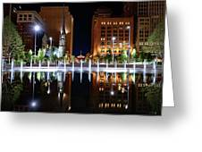 Cleveland Public Square Fountains Greeting Card